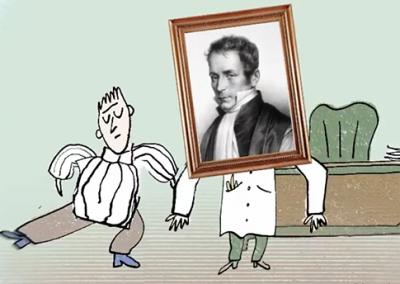René Laennec et le stéthoscope